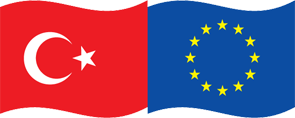 Turkey & European Union Flags