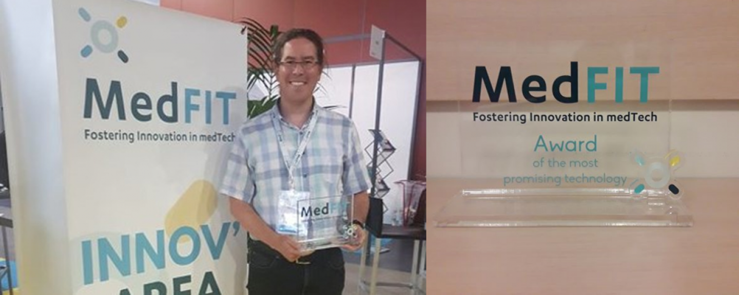 "Mikrobiyosistemler received the ""Most Promising Technology Award"" at MedFIT2019 Event, held in Lille, France, 25-26 June 2019."